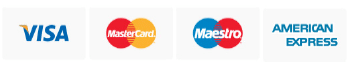 We accept a wide range of payment cards
